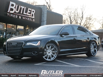 Audi A8 with 22in Savini SV50s Wheels