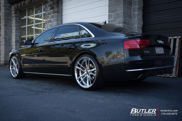 Audi A8 with 22in Savini SV51d Wheels
