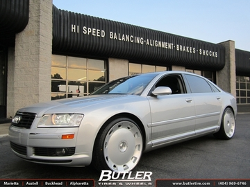 Audi A8 with 22in TSW Holsten Wheels