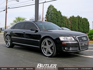 Audi A8 with 22in TSW Mirabeau Wheels