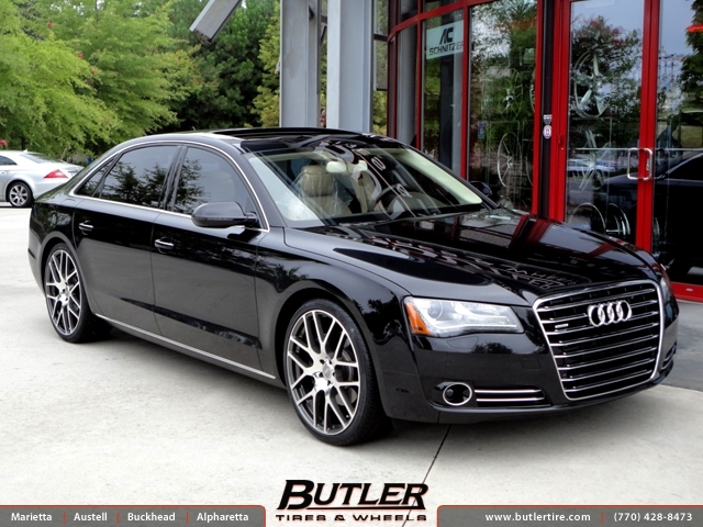 Audi A8 with 22in TSW Nurburgring Wheels