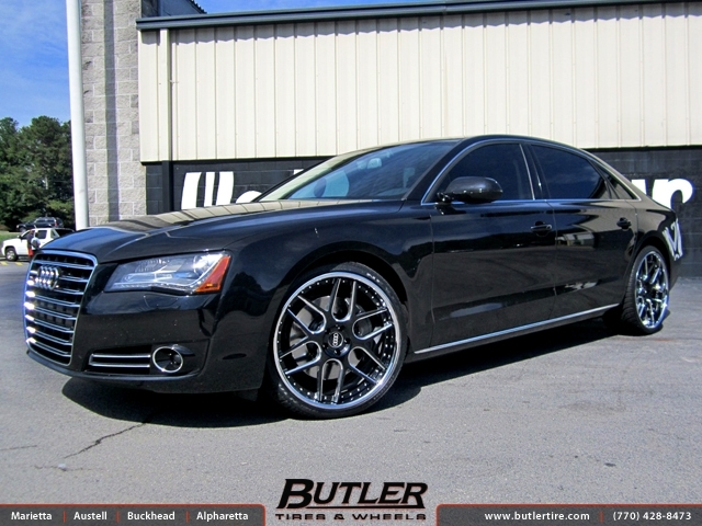 Audi A8 with 22in Vellano VCK Wheels