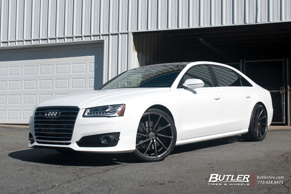 Audi A8 With 22in Vossen Cvt Wheels Exclusively From Butler Tires And Wheels In Atlanta Ga