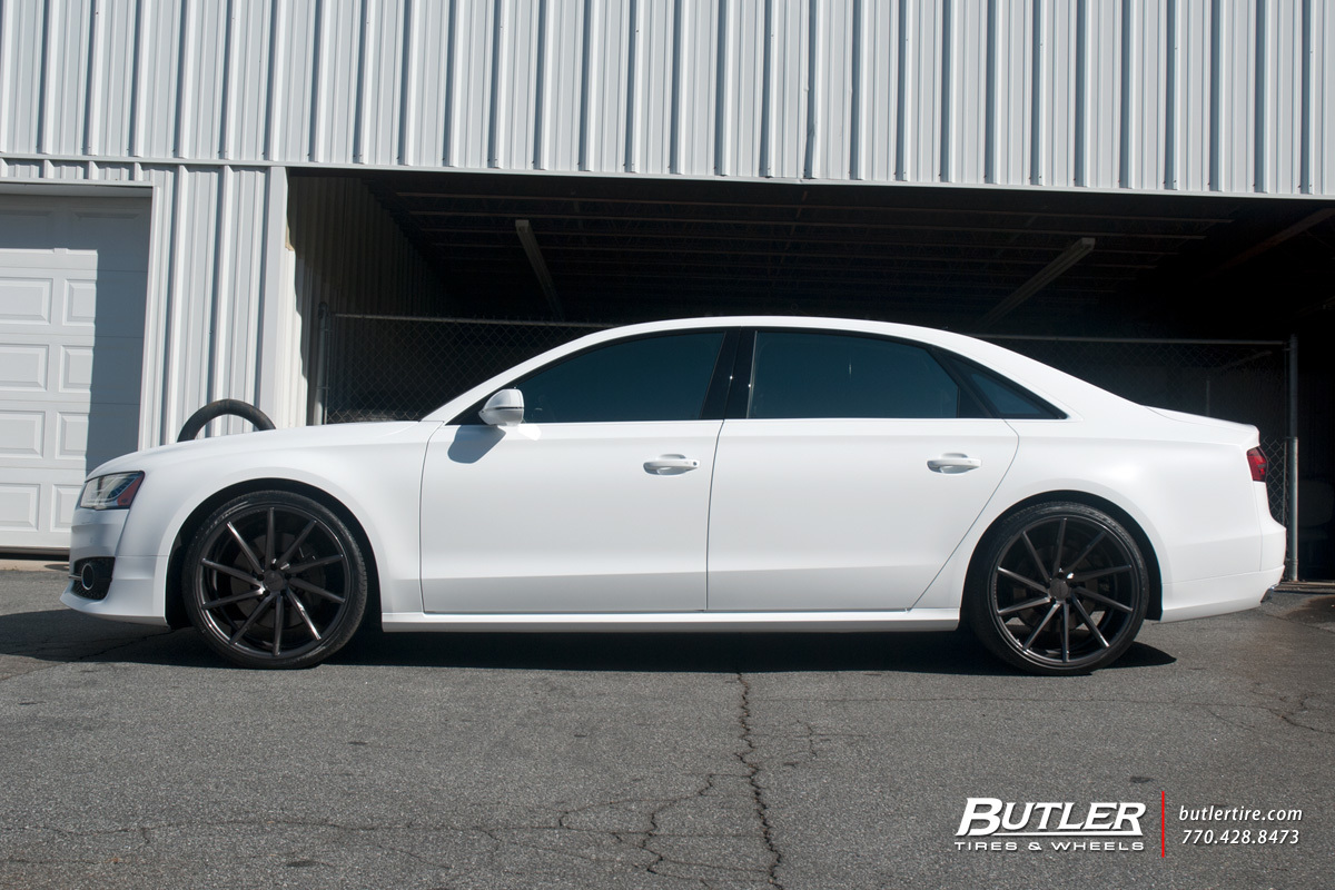 Audi A8 with 22in Vossen CVT Wheels