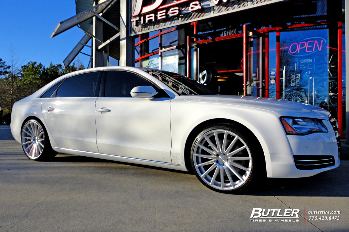 Audi A8 With 22in Vossen Vfs2 Wheels Exclusively From