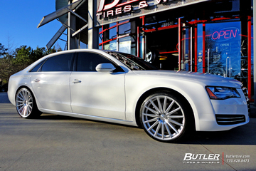 Audi A8 with 22in Vossen VFS2 Wheels