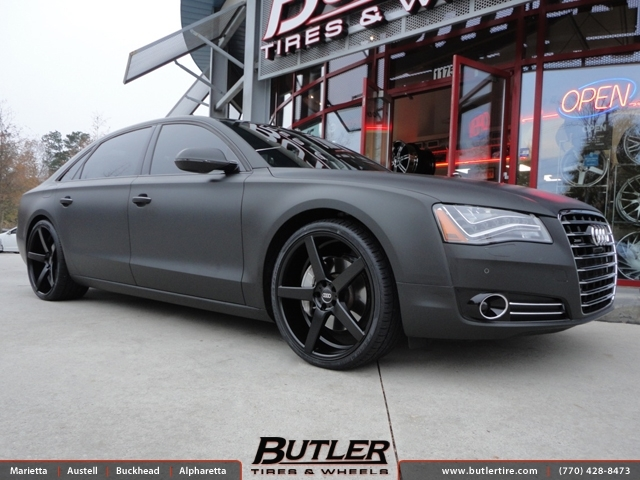 Audi A8 with 22in XO Miami Wheels