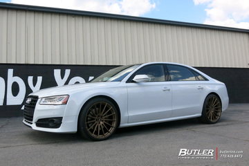 Audi A8L with 22in Avant Garde M615 Wheels