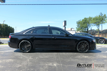 Audi A8L with 22in Mandrus Masche Wheels