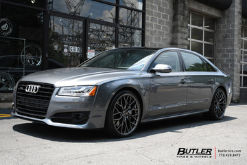 Audi A8L with 22in Savini SV-F 2 Wheels