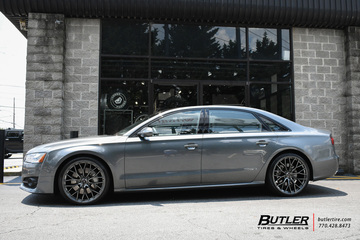 Audi A8L with 22in Savini SV-F2 Wheels