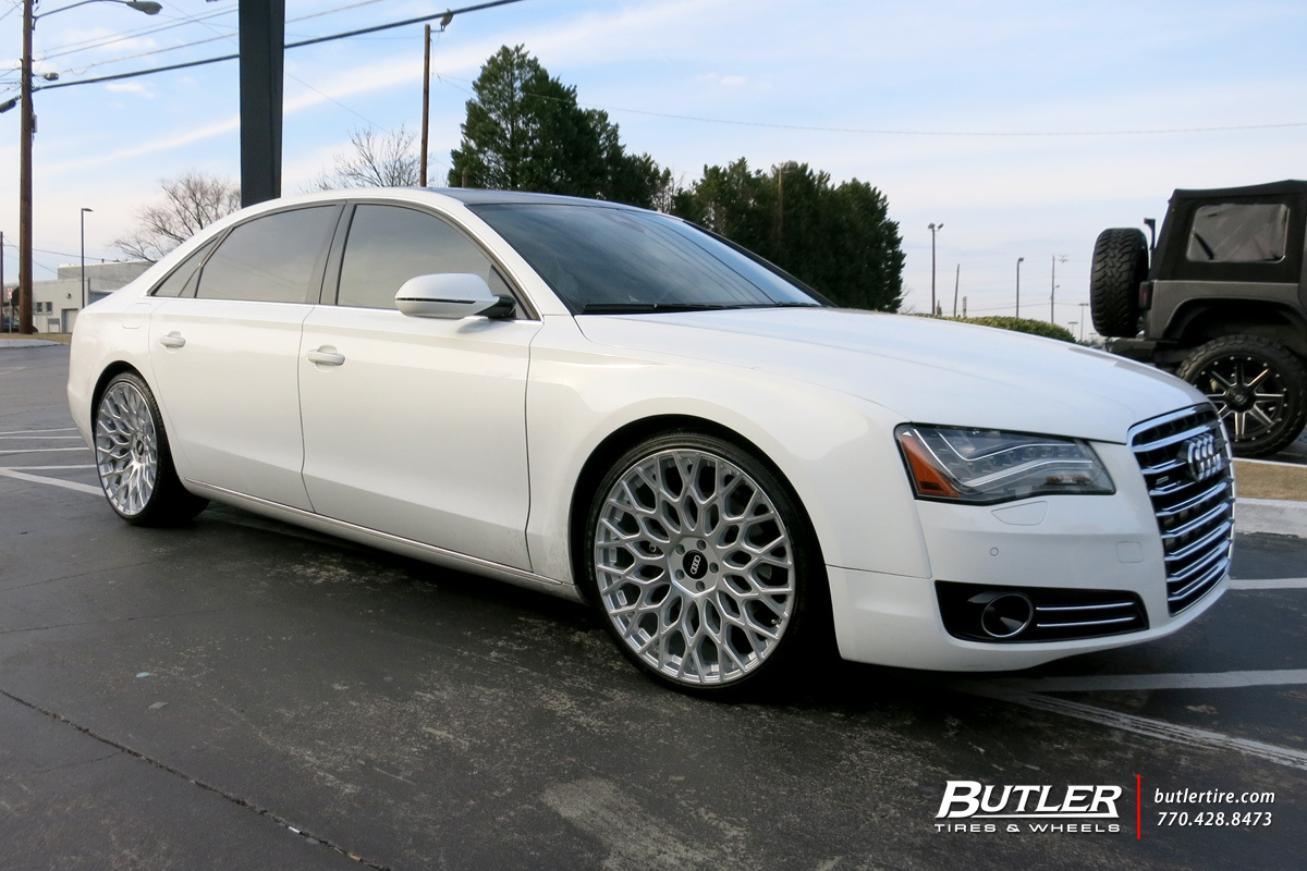 Audi A8L with 22in TSW Oslo Wheels exclusively from Butler ...