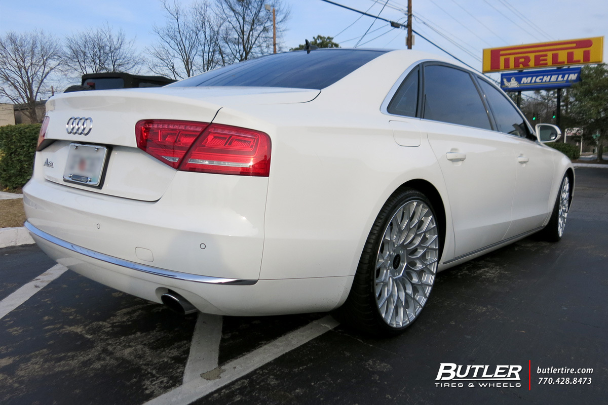 Audi A8L with 22in TSW Oslo Wheels
