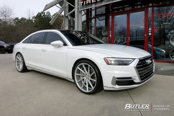 Audi A8L with 22in Vossen CVT Wheels