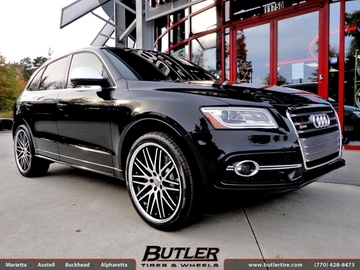 Audi Q5 with 22in Lexani CVX 44 Wheels