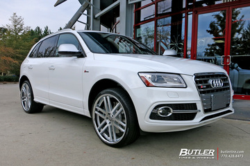 Audi Q7 with 22in TSW Rouen Wheels