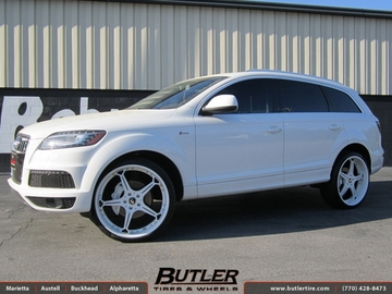 Audi Q7 with 24in Forgiato Quinto Wheels