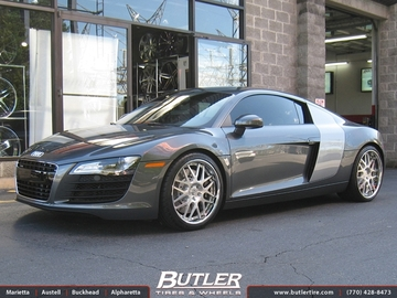 Audi R8 with 20in HRE 590 Wheels