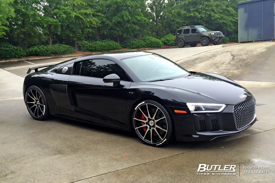 Audi R8 With 20in Savini Bm12 Wheels Exclusively From