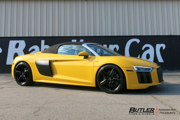 Audi R8 Spider with 21in Savini SV-F 3 Wheels
