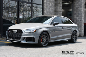 Audi RS3 with 19in HRE FF01 Wheels