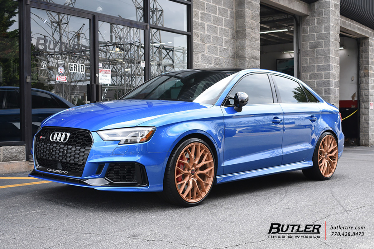 Audi RS3 with 20in Savini SV-F2 Wheels