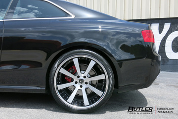 Audi RS5 with 20in Savini SV28c Wheels