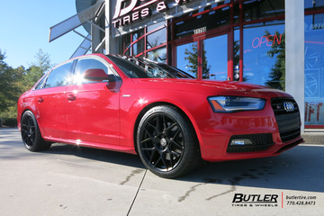 Audi S4 with 19in HRE FF01 Wheels