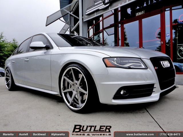Audi S4 with 20in DTM 7 Wheels