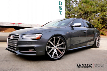 Audi S4 with 20in TSW Rouge Wheels