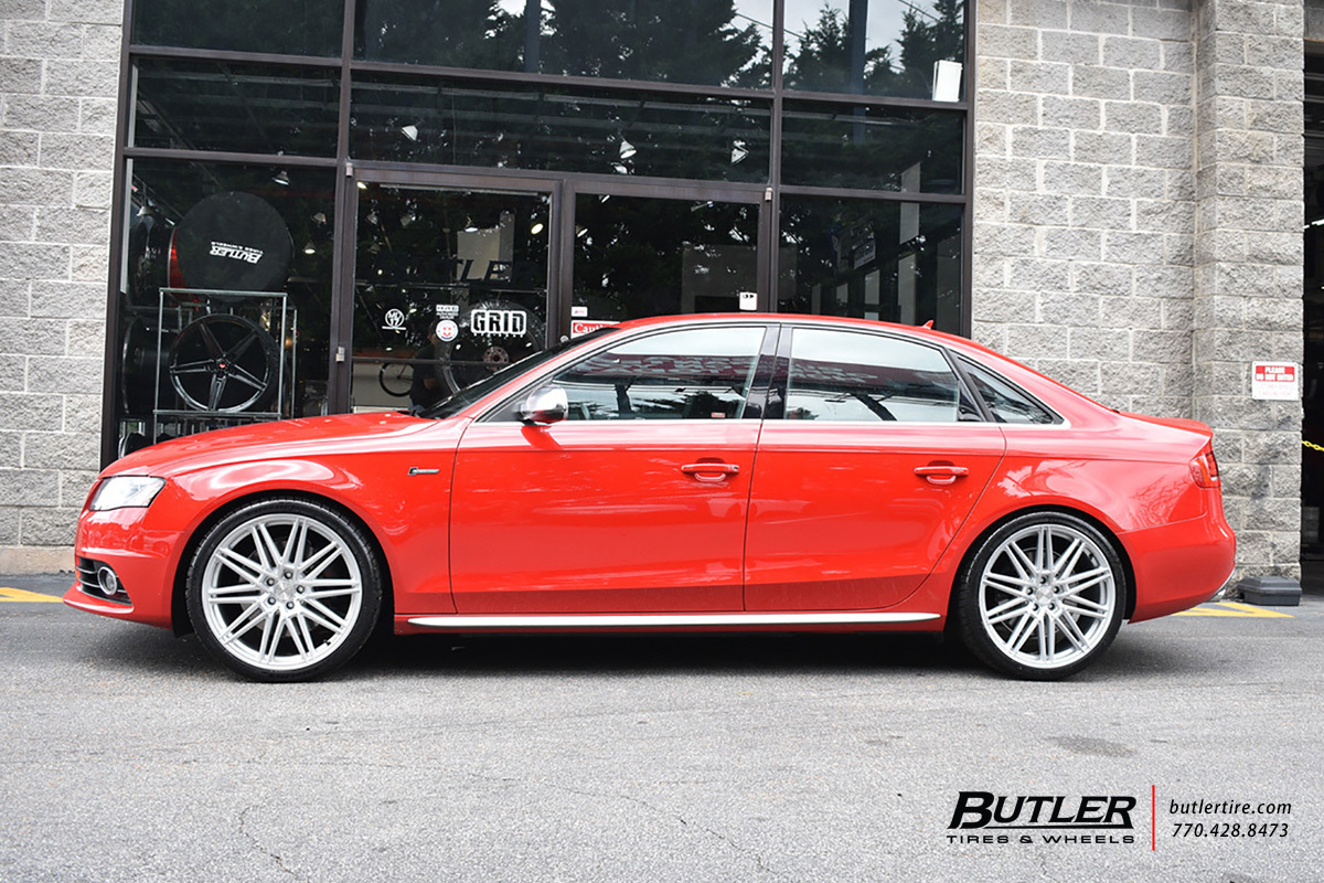 Audi S4 with 20in Vossen CV10 Wheels
