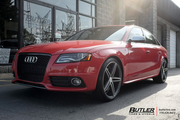 Audi S4 with 20in Vossen CV5 Wheels
