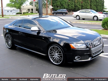 Audi S5 with 20in Lexani CVX 44 Wheels