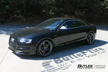 Audi S5 with 20in Savini SV-F 3 Wheels