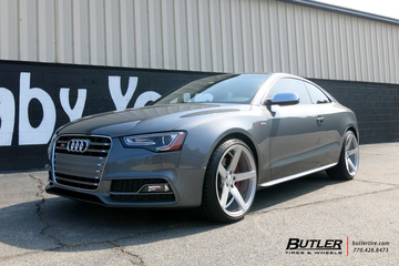 Audi S5 with 20in Vossen CV3-R Wheels