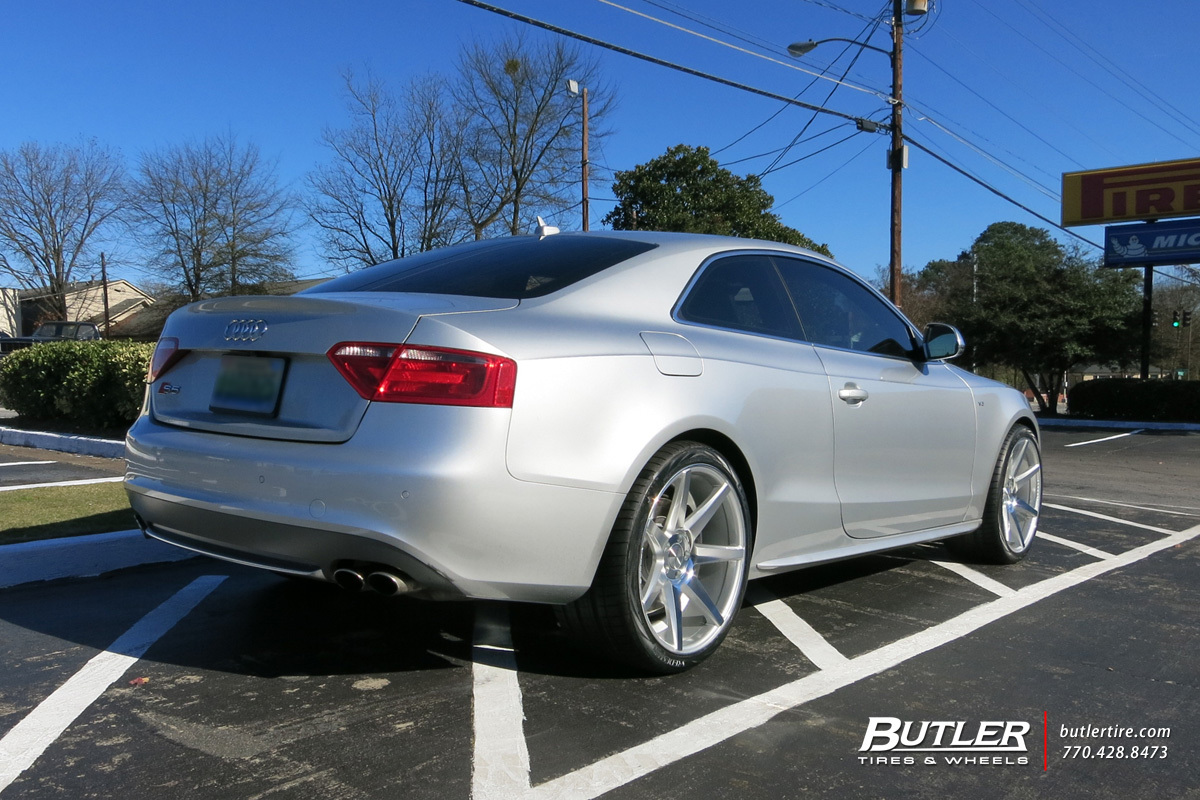 audi s5 with 20in vossen cv7 wheels exclusively from