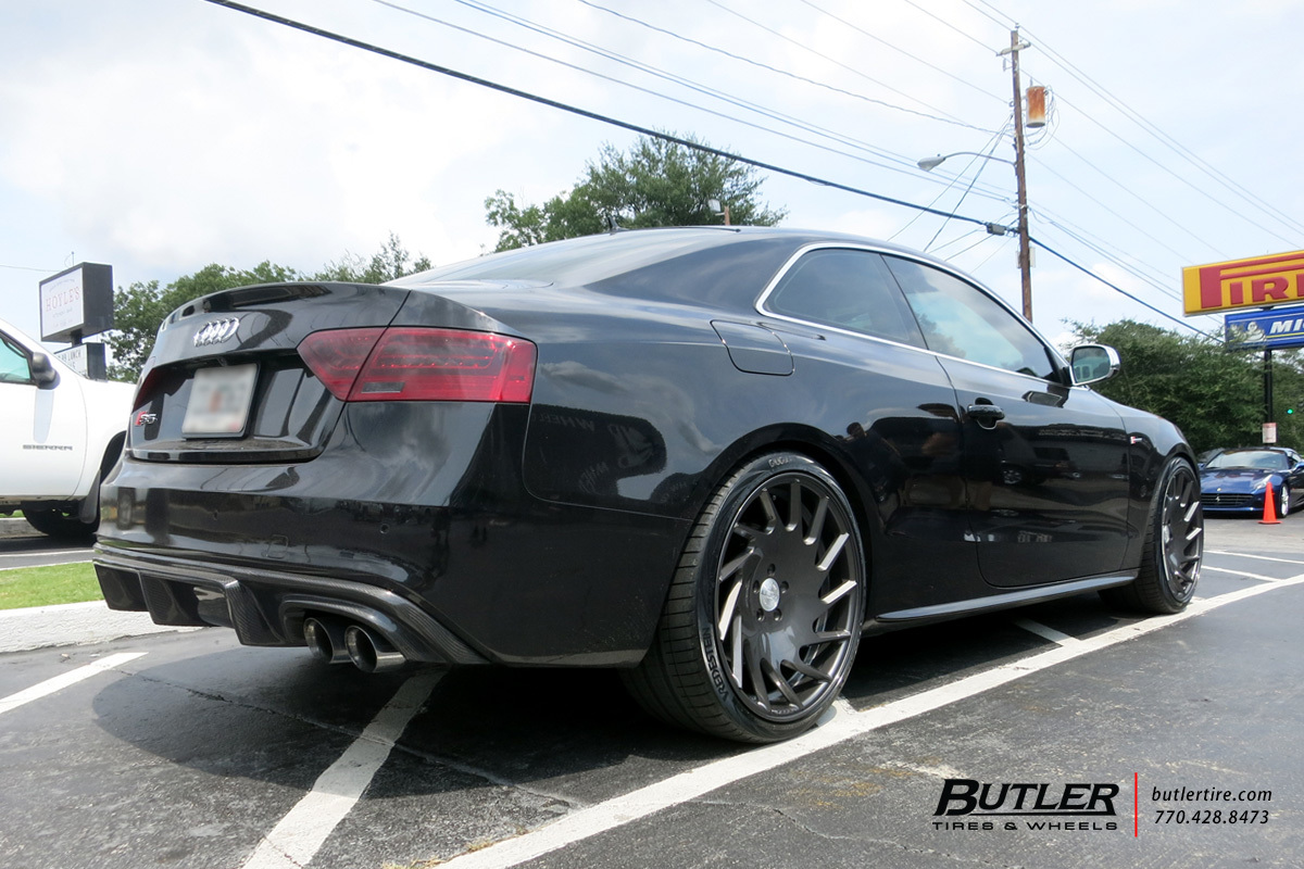 Audi S5 with 20in Vossen VLE-1 Wheels