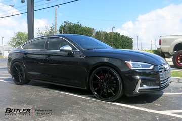 Audi S5 with 21in Vossen VFS1 Wheels
