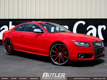 Audi S5 with 22in Lexani CVX 55 Wheels