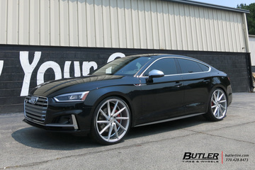 Audi S5 with 22in Vossen CVT Wheels