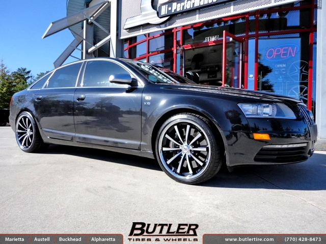 Audi S6 with 20in Lexani CVX 55 Wheels