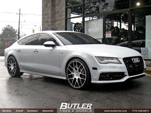 Audi S7 with 21in Mint M100 Wheels