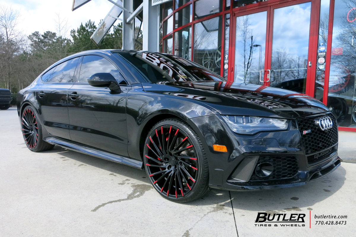 Audi S7 with 22in Lexani Wraith Wheels