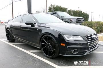 Audi S7 with 22in Savini BM15 Wheels