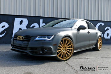 Audi S7 with 22in Vossen VFS2 Wheels