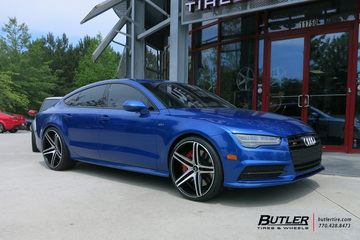 Audi S7 with 22in XO Caracas Wheels