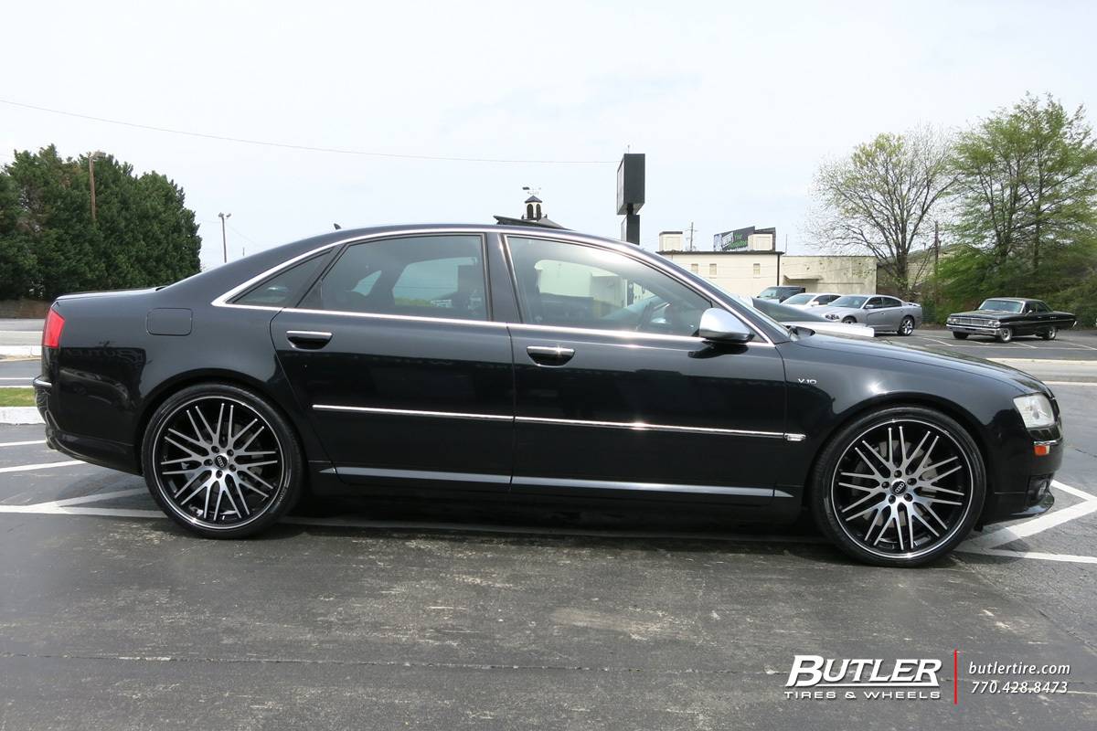 Audi S8 with 22in Lexani CVX 44 Wheels