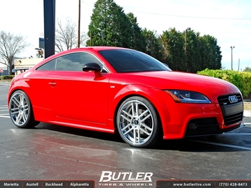Audi TT with 20in TSW Rouen Wheels