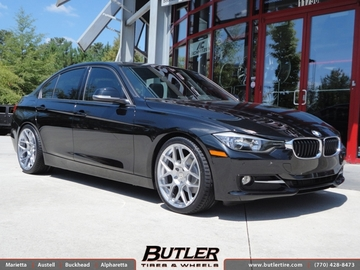 BMW 3 Series with 19in HRE FF01 Wheels