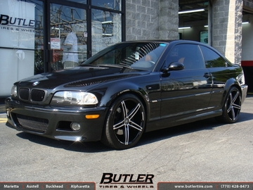 BMW 3 Series with 19in Lexani R-Three Wheels